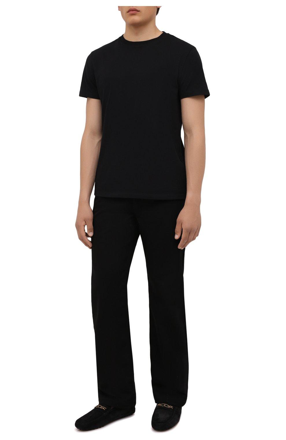Мужские замшевые мокасины TOD'S черного цвета, арт. XXM64C0EQ90RE0 | Фото 2 (Материал внутренний: Натуральная кожа; Материал внешний: Замша; Стили: Кэжуэл)