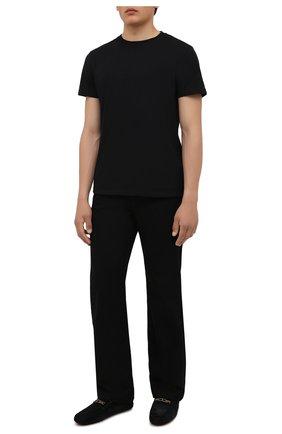 Мужские замшевые мокасины TOD'S черного цвета, арт. XXM64C0EQ90RE0 | Фото 2