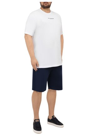 Мужская хлопковая футболка PAUL&SHARK белого цвета, арт. 11311629/C00/3XL-6XL | Фото 2 (Материал внешний: Хлопок; Рукава: Короткие; Принт: С принтом; Длина (для топов): Удлиненные)
