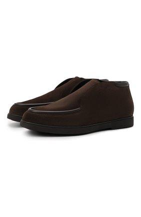 Мужские замшевые ботинки W.GIBBS темно-коричневого цвета, арт. 1078003/2567 | Фото 1