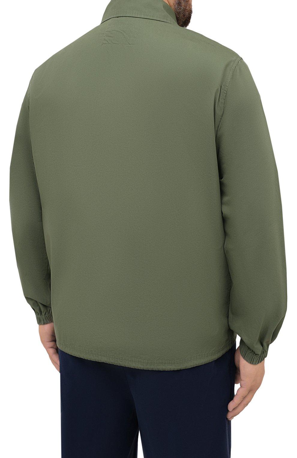 Мужская хлопковая куртка POLO RALPH LAUREN зеленого цвета, арт. 711842968/PRL BS   Фото 4 (Кросс-КТ: Куртка, Ветровка; Big sizes: Big Sizes; Рукава: Длинные; Материал внешний: Хлопок; Длина (верхняя одежда): Короткие; Стили: Кэжуэл)
