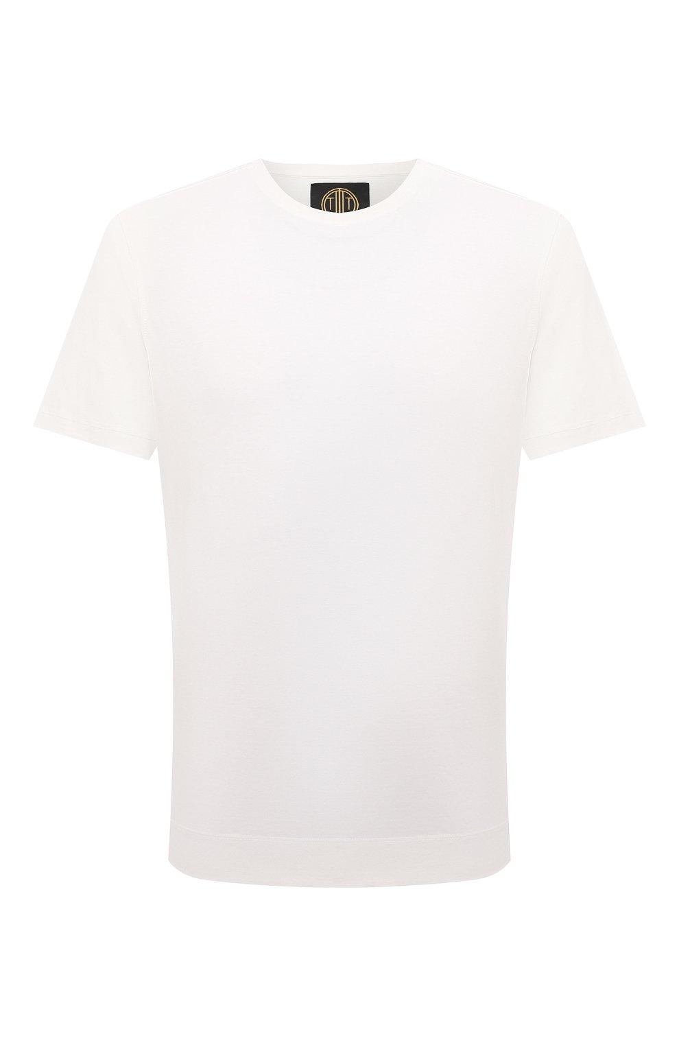 Мужская хлопковая футболка LIMITATO белого цвета, арт. EMBLEM/T-SHIRT | Фото 1 (Принт: Без принта; Рукава: Короткие; Длина (для топов): Стандартные; Материал внешний: Хлопок)