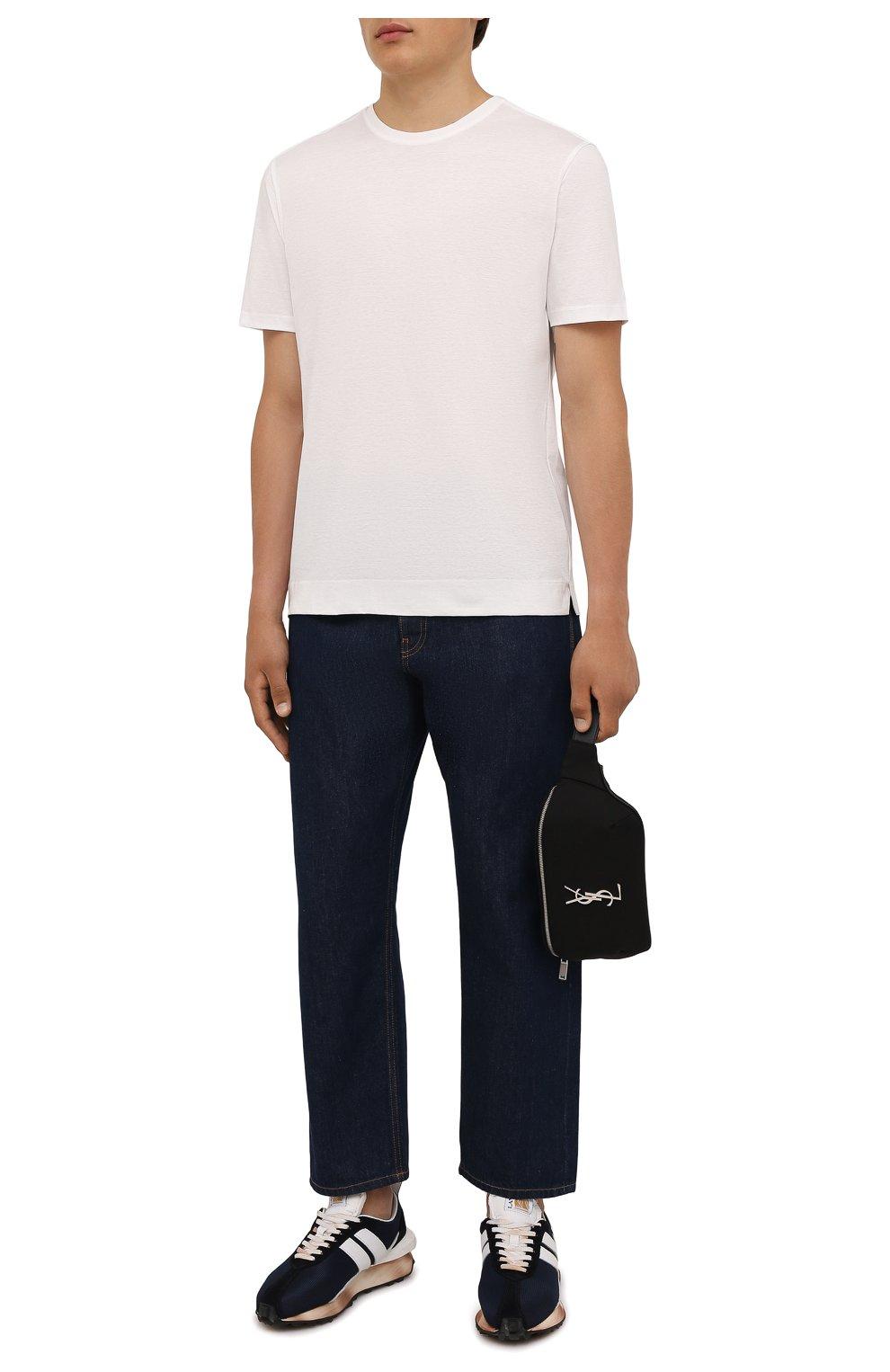 Мужская хлопковая футболка LIMITATO белого цвета, арт. EMBLEM/T-SHIRT | Фото 2 (Принт: Без принта; Рукава: Короткие; Длина (для топов): Стандартные; Материал внешний: Хлопок)