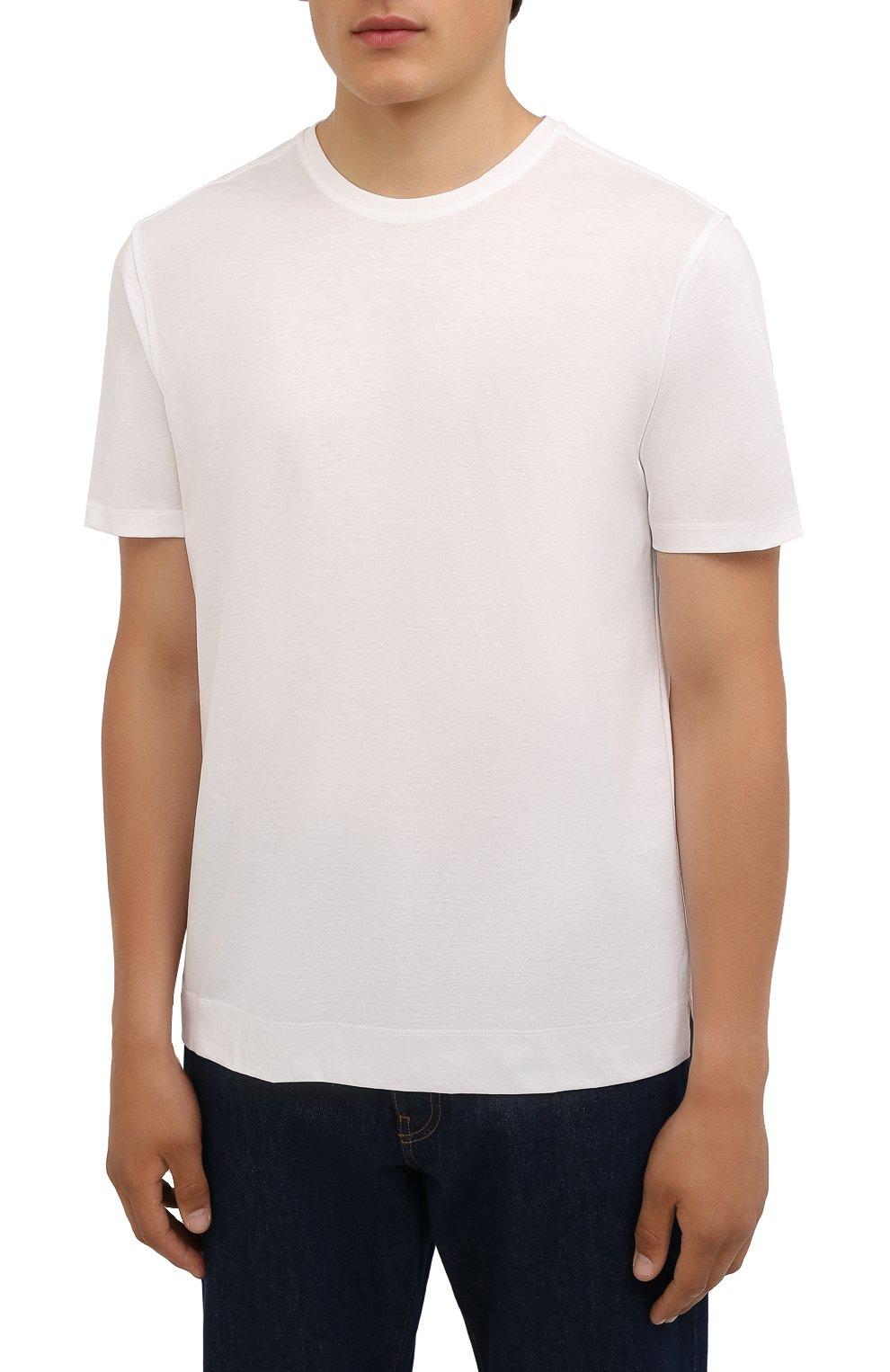 Мужская хлопковая футболка LIMITATO белого цвета, арт. EMBLEM/T-SHIRT | Фото 3 (Принт: Без принта; Рукава: Короткие; Длина (для топов): Стандартные; Материал внешний: Хлопок)