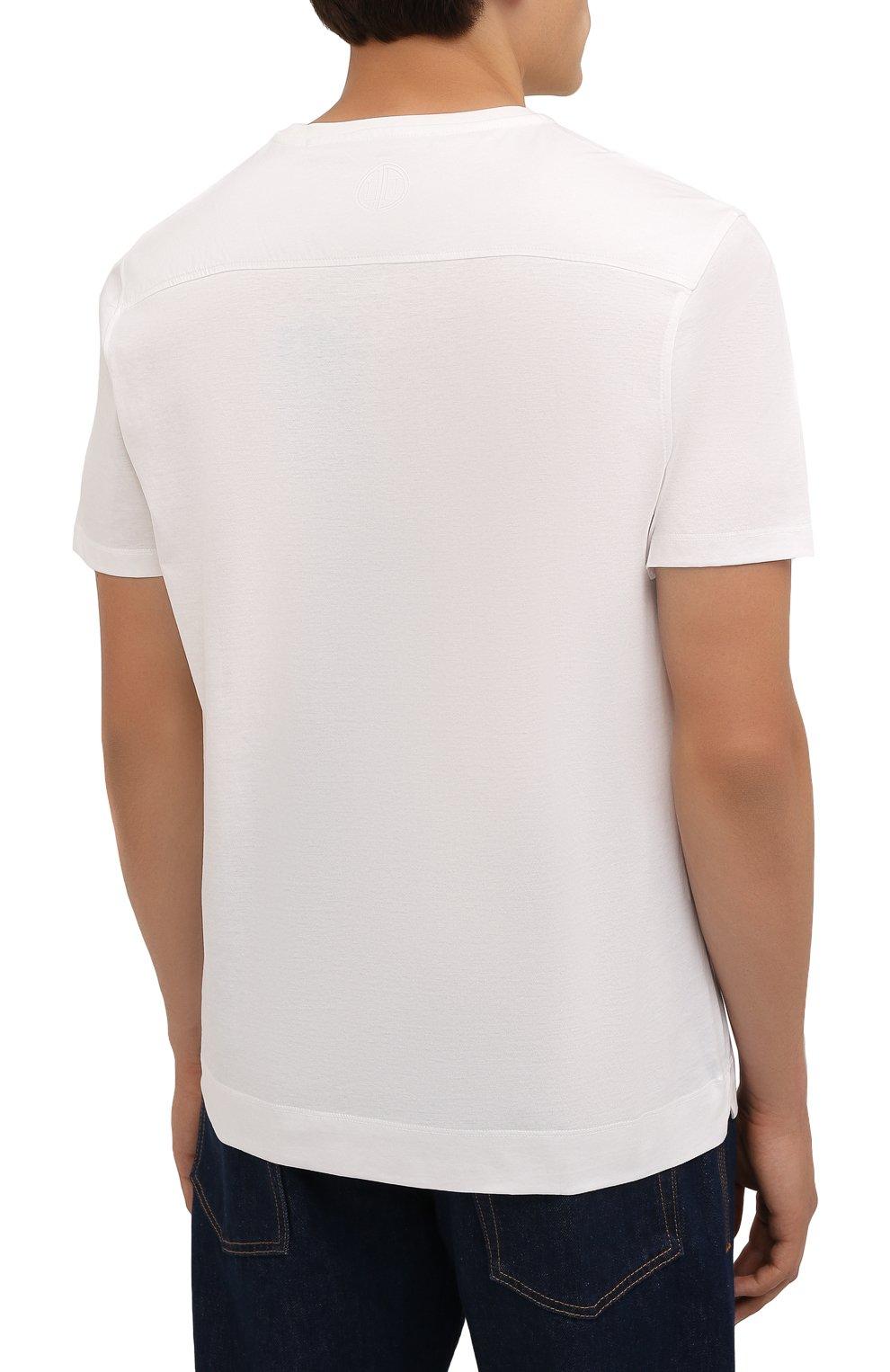 Мужская хлопковая футболка LIMITATO белого цвета, арт. EMBLEM/T-SHIRT | Фото 4 (Принт: Без принта; Рукава: Короткие; Длина (для топов): Стандартные; Материал внешний: Хлопок)
