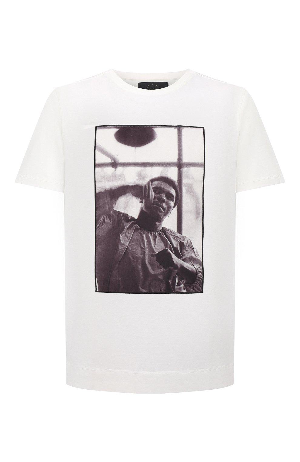 Мужская хлопковая футболка LIMITATO белого цвета, арт. HIT/T-SHIRT | Фото 1 (Рукава: Короткие; Длина (для топов): Стандартные; Принт: С принтом; Материал внешний: Хлопок)