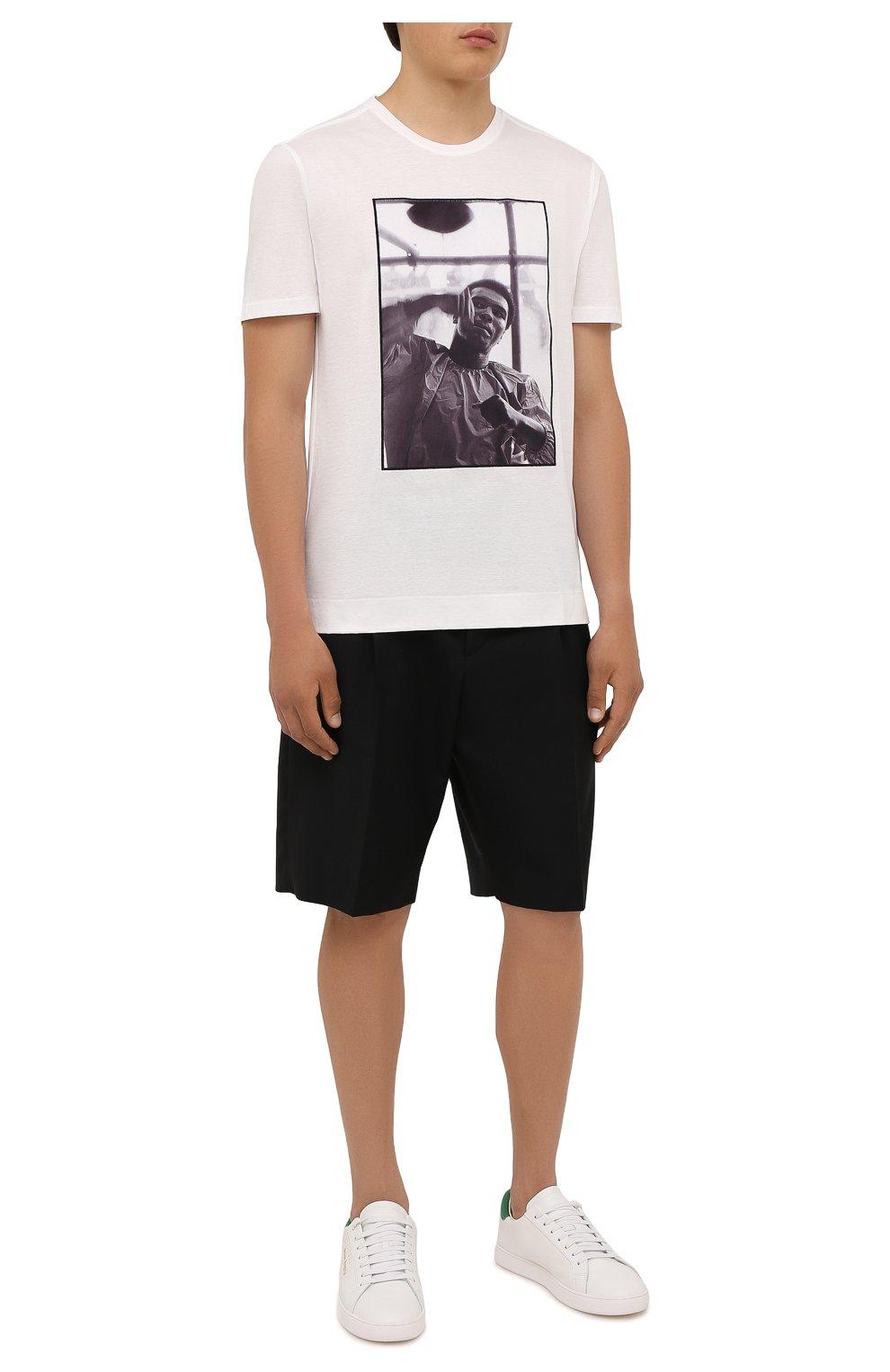 Мужская хлопковая футболка LIMITATO белого цвета, арт. HIT/T-SHIRT | Фото 2 (Рукава: Короткие; Длина (для топов): Стандартные; Принт: С принтом; Материал внешний: Хлопок)