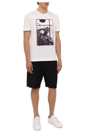 Мужская хлопковая футболка LIMITATO белого цвета, арт. HIT/T-SHIRT | Фото 2