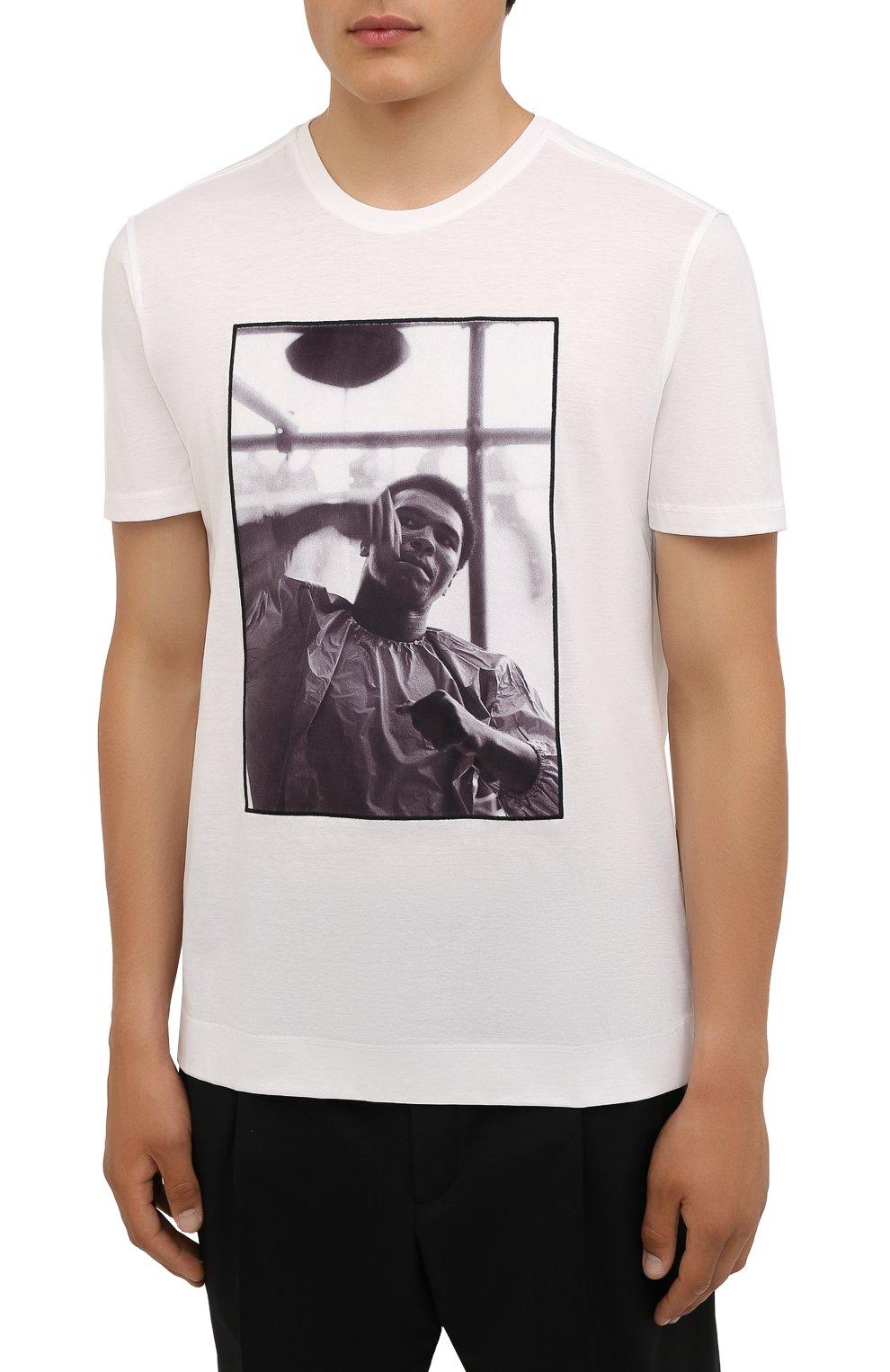 Мужская хлопковая футболка LIMITATO белого цвета, арт. HIT/T-SHIRT | Фото 3 (Рукава: Короткие; Длина (для топов): Стандартные; Принт: С принтом; Материал внешний: Хлопок)