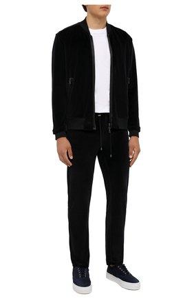 Мужские хлопковые брюки LIMITATO черного цвета, арт. MARKET/TRACK PANTS | Фото 2 (Материал внешний: Хлопок; Длина (брюки, джинсы): Стандартные; Случай: Повседневный; Кросс-КТ: Спорт; Мужское Кросс-КТ: Брюки-трикотаж; Стили: Спорт-шик)