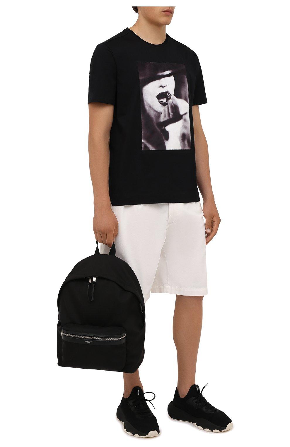 Мужская хлопковая футболка LIMITATO черного цвета, арт. STUDY/T-SHIRT   Фото 2 (Рукава: Короткие; Длина (для топов): Стандартные; Принт: С принтом; Материал внешний: Хлопок)