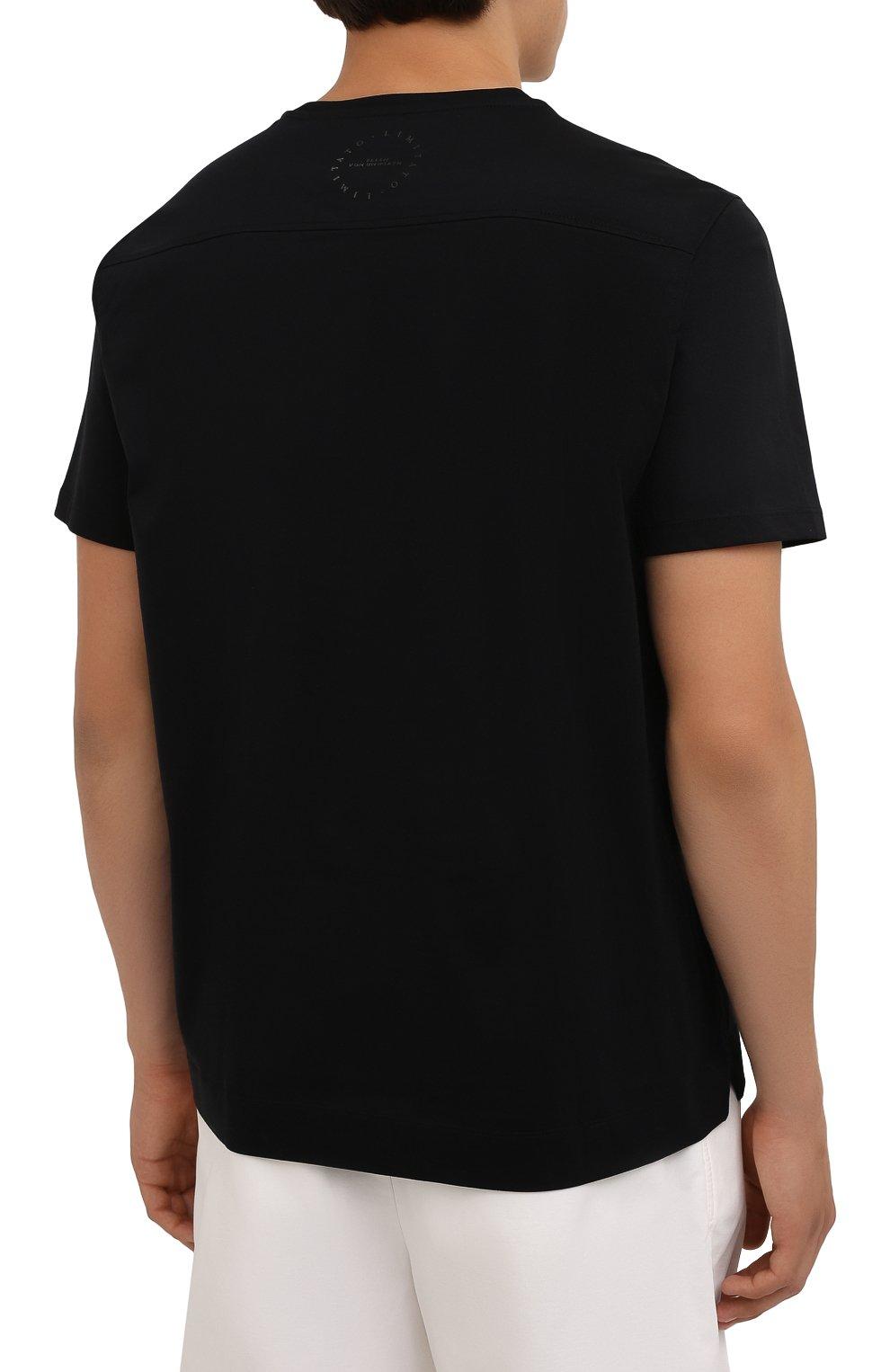Мужская хлопковая футболка LIMITATO черного цвета, арт. STUDY/T-SHIRT   Фото 4 (Рукава: Короткие; Длина (для топов): Стандартные; Принт: С принтом; Материал внешний: Хлопок)