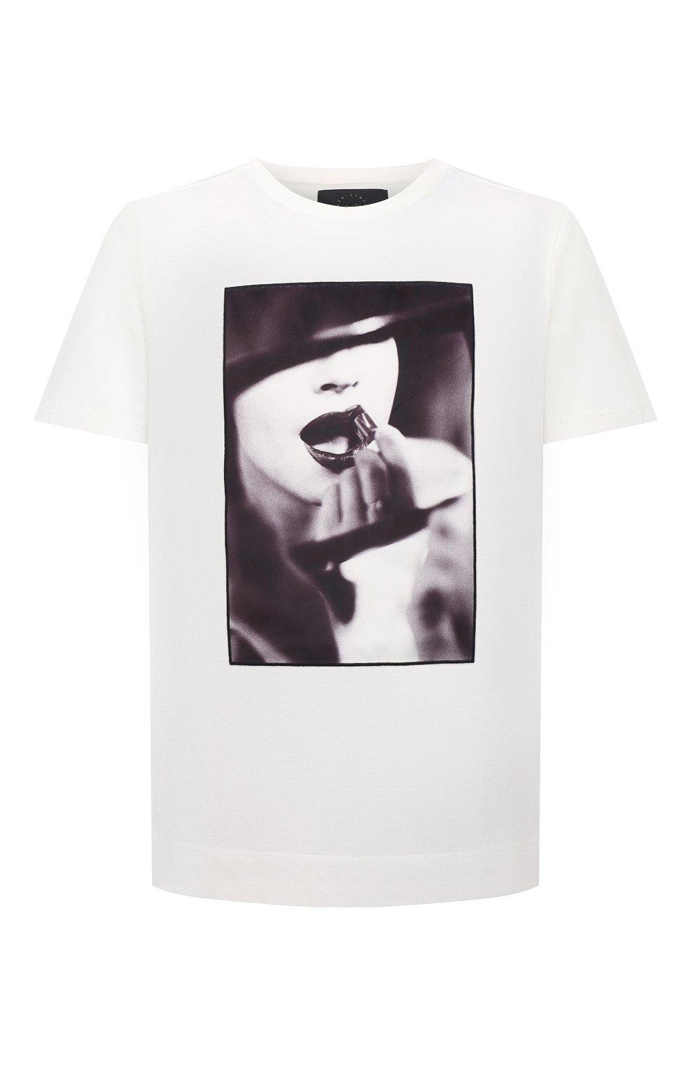 Мужская хлопковая футболка LIMITATO белого цвета, арт. STUDY/T-SHIRT | Фото 1 (Рукава: Короткие; Длина (для топов): Стандартные; Принт: С принтом; Материал внешний: Хлопок)