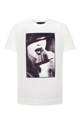 Мужская хлопковая футболка LIMITATO белого цвета, арт. STUDY/T-SHIRT | Фото 1 (Материал внешний: Хлопок; Длина (для топов): Стандартные; Рукава: Короткие; Принт: С принтом)