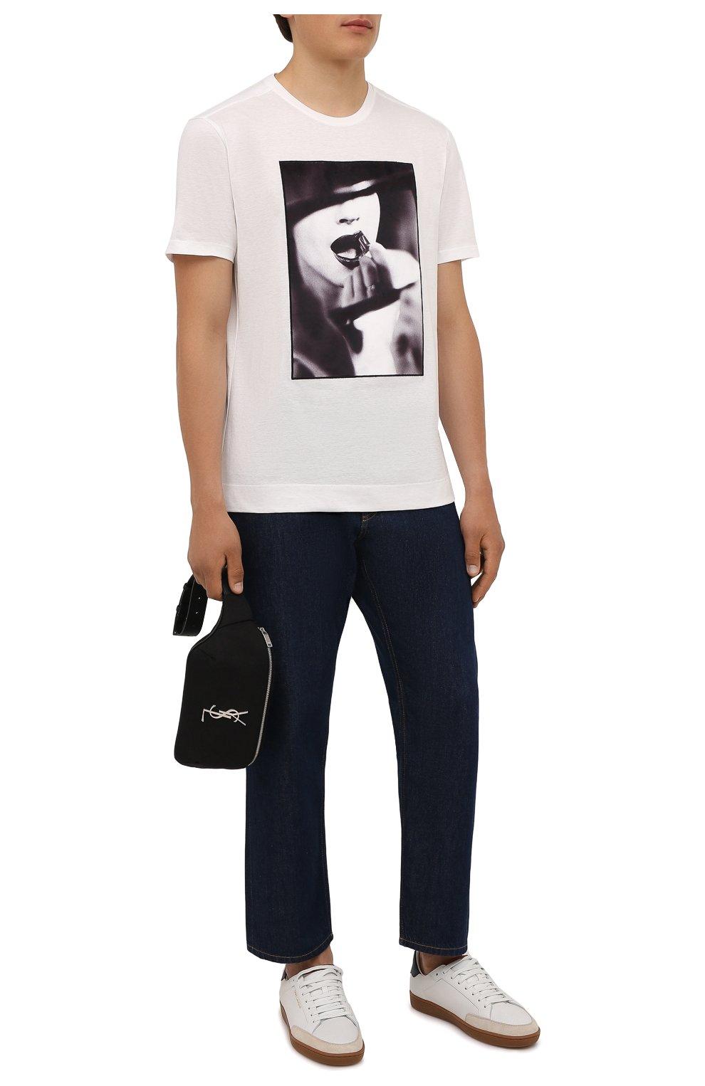 Мужская хлопковая футболка LIMITATO белого цвета, арт. STUDY/T-SHIRT | Фото 2 (Рукава: Короткие; Длина (для топов): Стандартные; Принт: С принтом; Материал внешний: Хлопок)