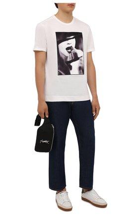 Мужская хлопковая футболка LIMITATO белого цвета, арт. STUDY/T-SHIRT | Фото 2 (Материал внешний: Хлопок; Длина (для топов): Стандартные; Рукава: Короткие; Принт: С принтом)