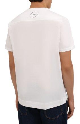 Мужская хлопковая футболка LIMITATO белого цвета, арт. STUDY/T-SHIRT | Фото 4 (Рукава: Короткие; Длина (для топов): Стандартные; Принт: С принтом; Материал внешний: Хлопок)