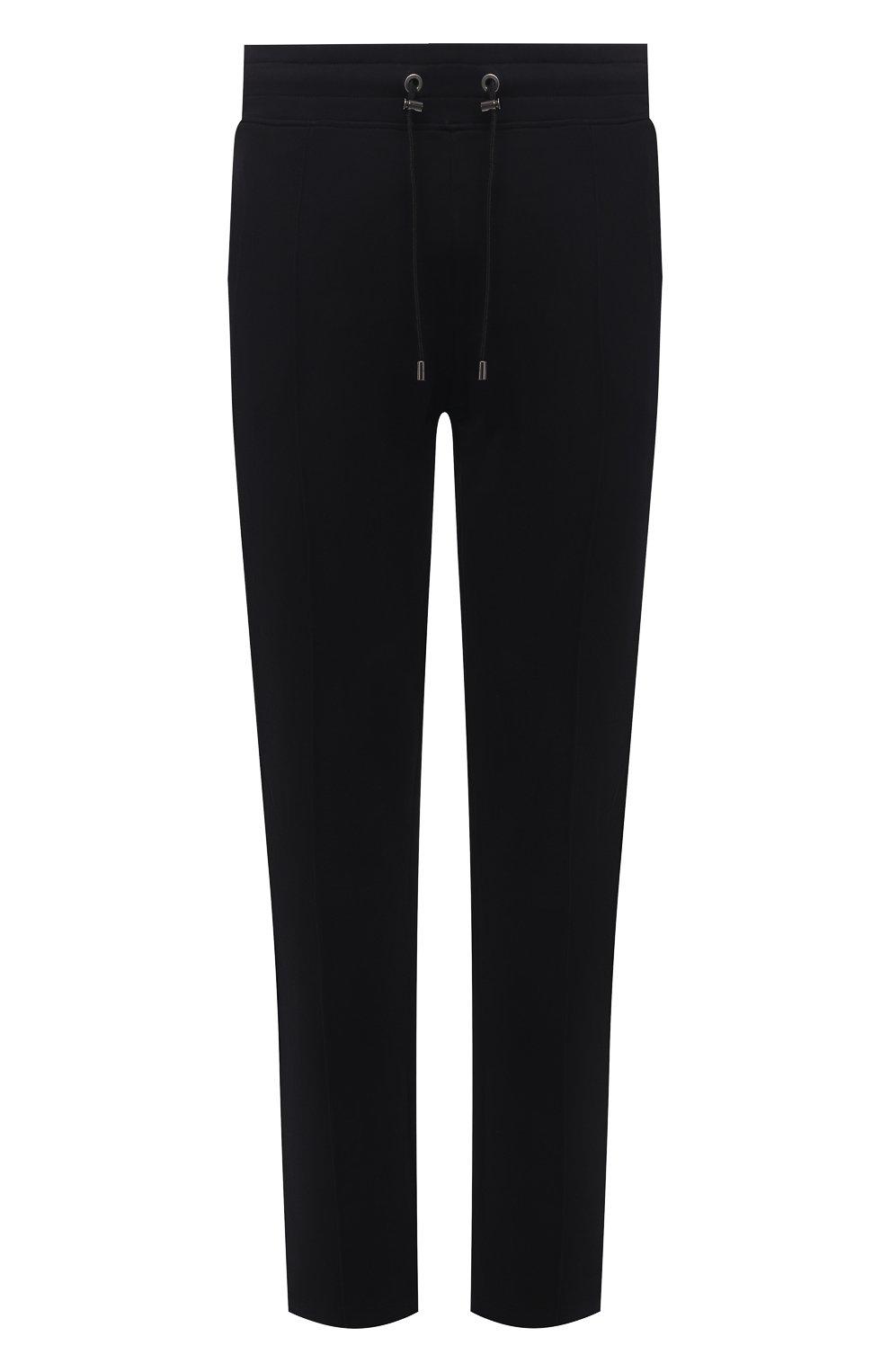 Мужские хлопковые брюки LIMITATO черного цвета, арт. TW0 T0NE/TRACK PANTS   Фото 1 (Мужское Кросс-КТ: Брюки-трикотаж; Длина (брюки, джинсы): Стандартные; Случай: Повседневный; Кросс-КТ: Спорт; Материал внешний: Хлопок; Стили: Спорт-шик)