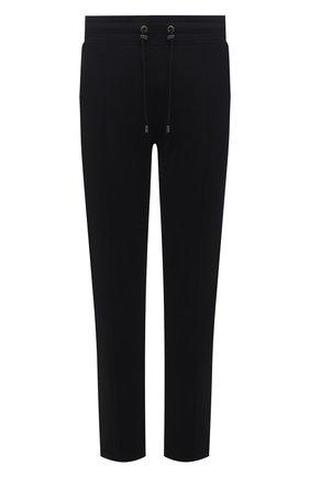 Мужские хлопковые брюки LIMITATO черного цвета, арт. TW0 T0NE/TRACK PANTS | Фото 1 (Материал внешний: Хлопок; Длина (брюки, джинсы): Стандартные; Случай: Повседневный; Мужское Кросс-КТ: Брюки-трикотаж; Стили: Спорт-шик; Кросс-КТ: Спорт)