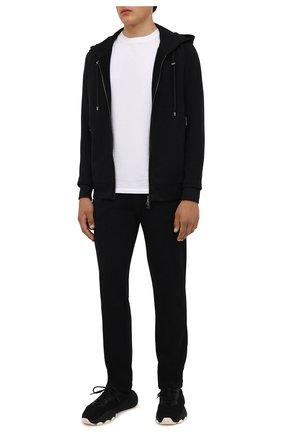 Мужские хлопковые брюки LIMITATO черного цвета, арт. TW0 T0NE/TRACK PANTS | Фото 2 (Материал внешний: Хлопок; Длина (брюки, джинсы): Стандартные; Случай: Повседневный; Мужское Кросс-КТ: Брюки-трикотаж; Стили: Спорт-шик; Кросс-КТ: Спорт)