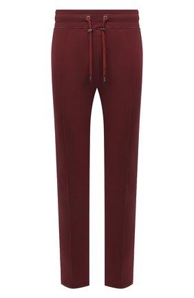 Мужские хлопковые брюки LIMITATO бордового цвета, арт. TW0 T0NE/TRACK PANTS | Фото 1 (Материал внешний: Хлопок; Длина (брюки, джинсы): Стандартные; Случай: Повседневный; Стили: Спорт-шик; Мужское Кросс-КТ: Брюки-трикотаж; Кросс-КТ: Спорт)