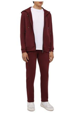 Мужские хлопковые брюки LIMITATO бордового цвета, арт. TW0 T0NE/TRACK PANTS | Фото 2 (Материал внешний: Хлопок; Длина (брюки, джинсы): Стандартные; Случай: Повседневный; Стили: Спорт-шик; Мужское Кросс-КТ: Брюки-трикотаж; Кросс-КТ: Спорт)