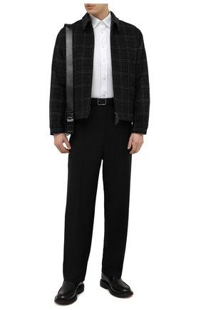 Мужская хлопковая рубашка BURBERRY белого цвета, арт. 8043060 | Фото 2