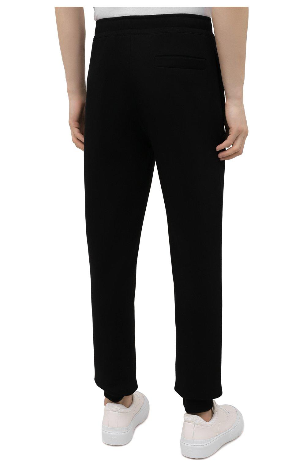 Мужские хлопковые джоггеры BURBERRY черного цвета, арт. 8042235 | Фото 4 (Мужское Кросс-КТ: Брюки-трикотаж; Длина (брюки, джинсы): Стандартные; Материал внешний: Хлопок; Стили: Спорт-шик; Силуэт М (брюки): Джоггеры)