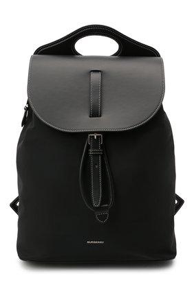Мужской комбинированный рюкзак BURBERRY черного цвета, арт. 8042018 | Фото 1