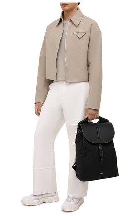 Мужской комбинированный рюкзак BURBERRY черного цвета, арт. 8042018 | Фото 2