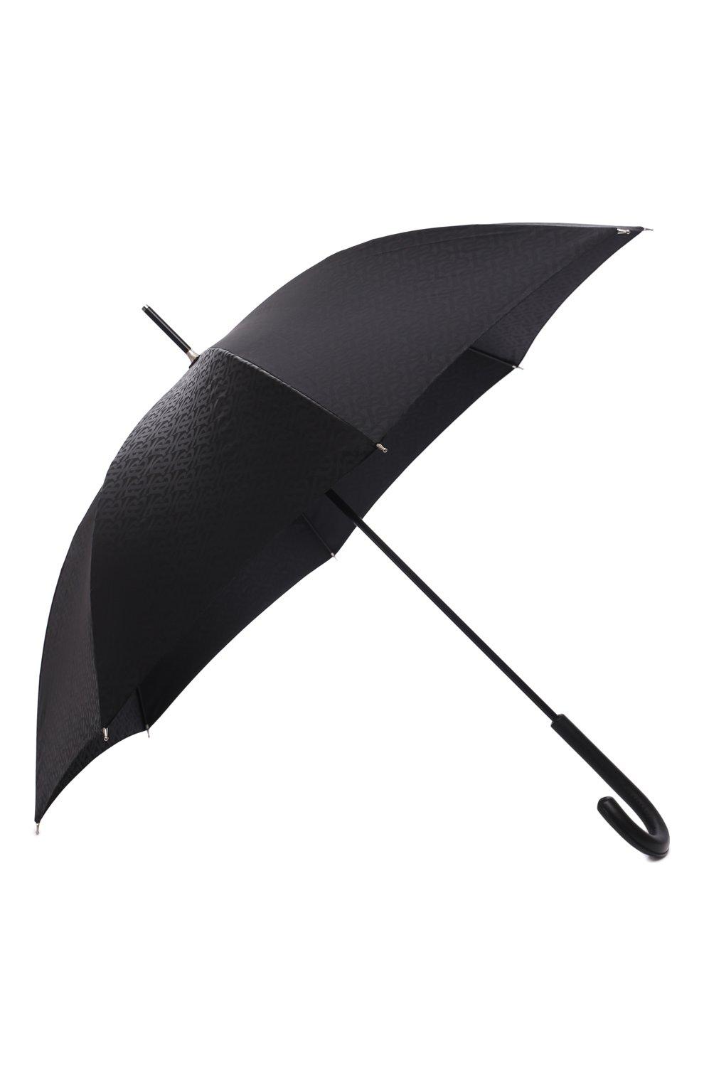 Мужской зонт-трость BURBERRY черного цвета, арт. 8025469   Фото 2 (Материал: Текстиль, Синтетический материал, Металл)