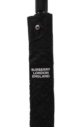 Мужской зонт-трость BURBERRY черного цвета, арт. 8025469   Фото 5 (Материал: Текстиль, Синтетический материал, Металл)
