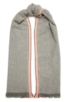 Мужской кашемировый шарф BRUNELLO CUCINELLI серого цвета, арт. MSC658AG | Фото 1