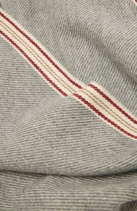 Мужской кашемировый шарф BRUNELLO CUCINELLI серого цвета, арт. MSC658AG | Фото 2