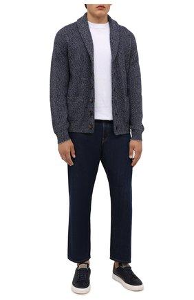 Мужской кардиган из шерсти и кашемира BRUNELLO CUCINELLI темно-синего цвета, арт. M3674176 | Фото 2 (Материал внешний: Шерсть, Кашемир; Длина (для топов): Стандартные; Стили: Кэжуэл; Рукава: Длинные; Мужское Кросс-КТ: Кардиган-одежда)