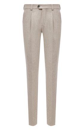 Мужские шерстяные брюки BRUNELLO CUCINELLI бежевого цвета, арт. M038PE1450 | Фото 1