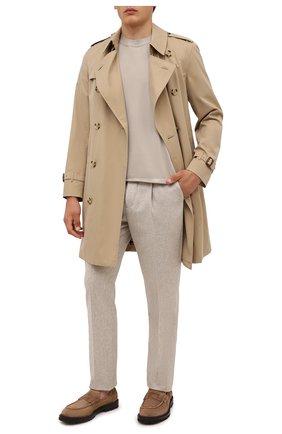 Мужские шерстяные брюки BRUNELLO CUCINELLI бежевого цвета, арт. M038PE1450 | Фото 2