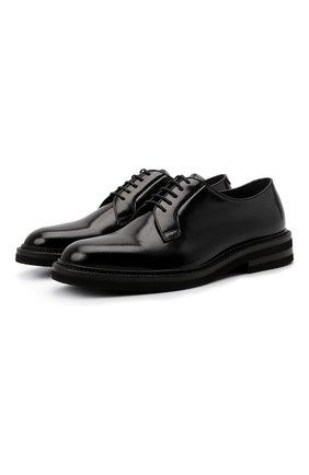 Мужские кожаные дерби BRUNELLO CUCINELLI черного цвета, арт. MZUSHAK810 | Фото 1 (Материал внутренний: Натуральная кожа; Стили: Классический)