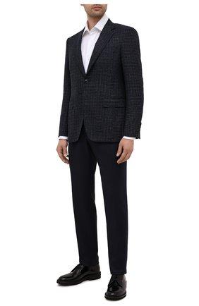 Мужские кожаные дерби BRUNELLO CUCINELLI черного цвета, арт. MZUSHAK810 | Фото 2 (Материал внутренний: Натуральная кожа; Стили: Классический)