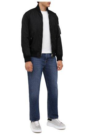 Мужские кожаные кеды ALEXANDER MCQUEEN белого цвета, арт. 604223/WHCE4 | Фото 2