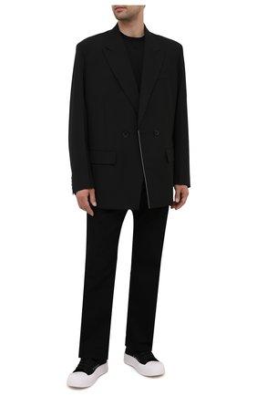 Мужские текстильные кеды ALEXANDER MCQUEEN черного цвета, арт. 667816/W4MV7 | Фото 2