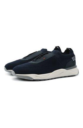 Мужские текстильные кроссовки SANTONI темно-синего цвета, арт. MBI021601BGRNH0DU60 | Фото 1