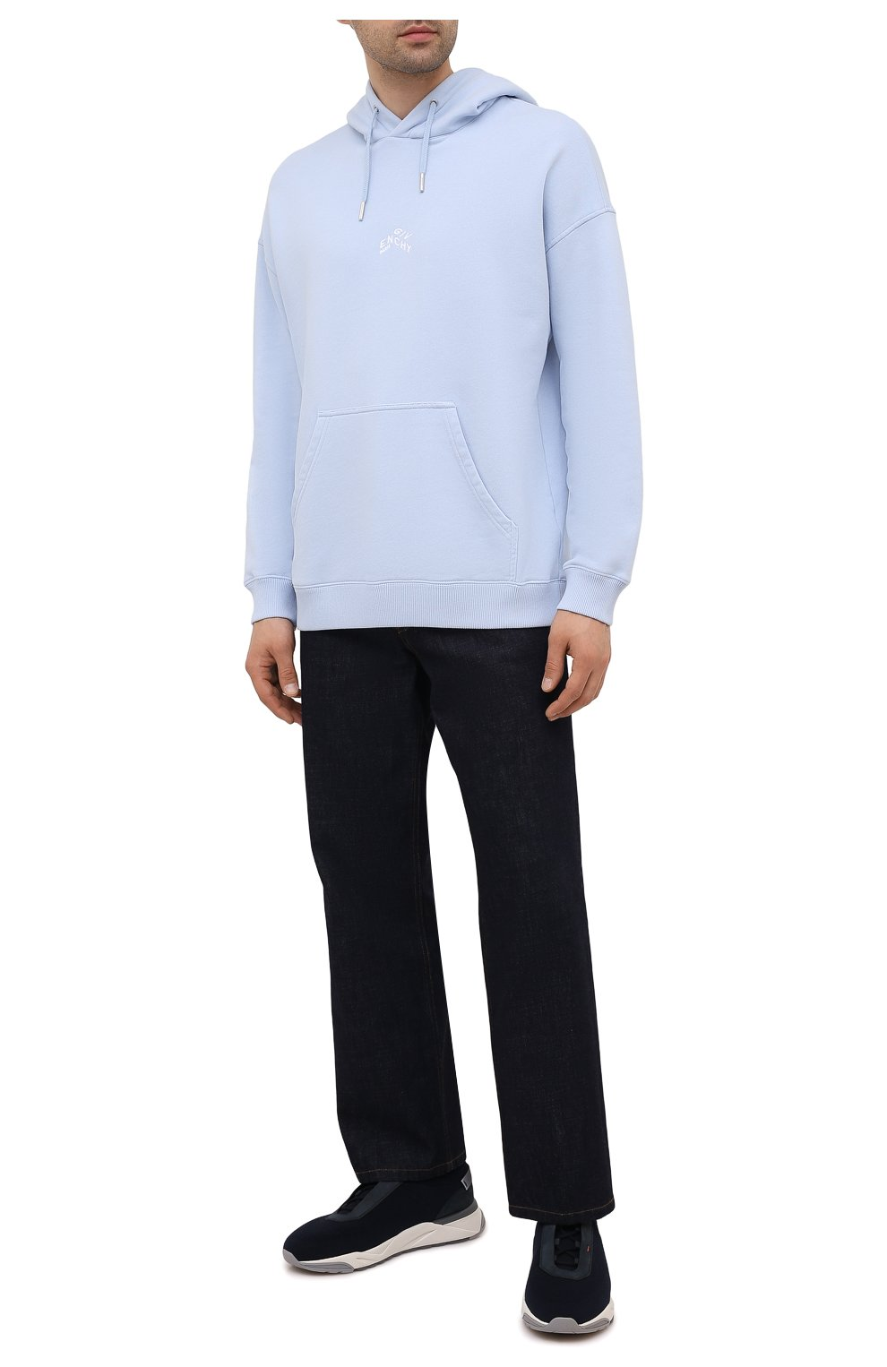 Мужские текстильные кроссовки SANTONI темно-синего цвета, арт. MBI021601BGRNH0DU60 | Фото 2 (Материал внешний: Текстиль; Материал внутренний: Натуральная кожа, Текстиль; Подошва: Массивная; Стили: Спорт)