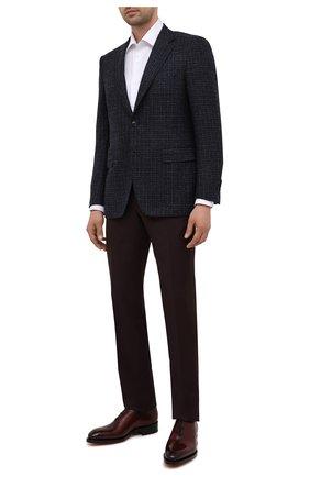 Мужские кожаные оксфорды SANTONI бордового цвета, арт. MCCG16229MD3HVVDQ67 | Фото 2
