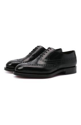 Мужские кожаные оксфорды SANTONI черного цвета, арт. MCCG17673MD3HRT0N01 | Фото 1