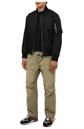 Мужские комбинированные кроссовки HOGAN хаки цвета, арт. HXM3830D092QEP | Фото 2