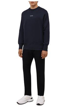 Мужские кожаные кроссовки HOGAN белого цвета, арт. HXM5450DP01QEQ | Фото 2