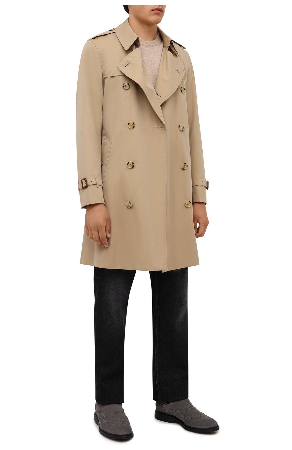 Мужские замшевые челси HOGAN серого цвета, арт. HXM5760DT40HG0 | Фото 2 (Материал внутренний: Текстиль; Подошва: Плоская; Мужское Кросс-КТ: Сапоги-обувь, Челси-обувь; Материал внешний: Замша)