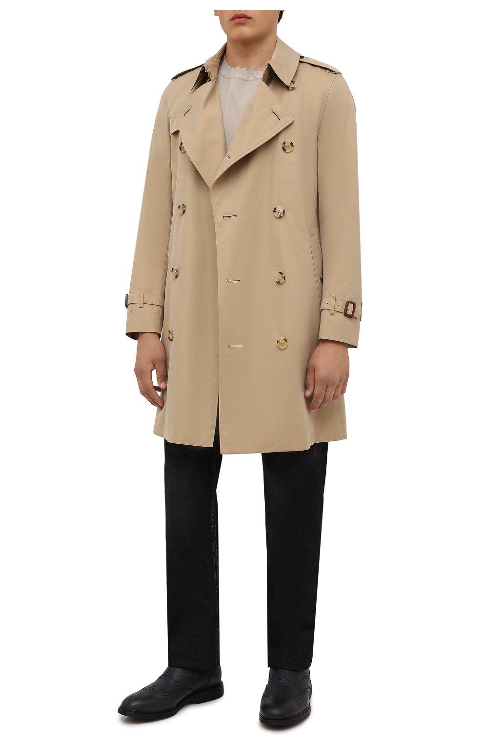 Мужские кожаные челси HOGAN темно-серого цвета, арт. HXM5760DT40Q7Q | Фото 2 (Материал внутренний: Текстиль; Подошва: Плоская; Мужское Кросс-КТ: Сапоги-обувь, Челси-обувь)