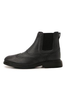 Мужские кожаные челси HOGAN темно-серого цвета, арт. HXM5760DT40Q7Q | Фото 3 (Материал внутренний: Текстиль; Подошва: Плоская; Мужское Кросс-КТ: Сапоги-обувь, Челси-обувь)
